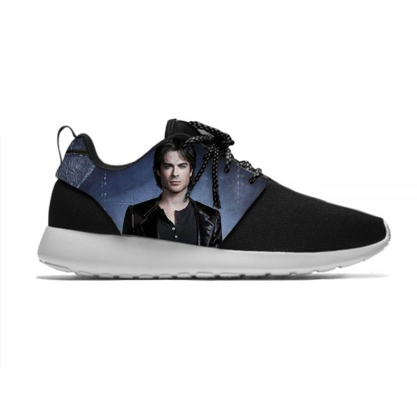 The Vampire Diaries Damon Salvatore Funny Fashion Sport Running Shoes Casual Breathable Lightweight 3D Print Men 2 - Vampire Diaries Merch