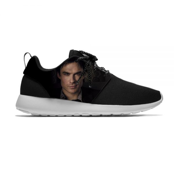 The Vampire Diaries Damon Salvatore Funny Fashion Sport Running Shoes Casual Breathable Lightweight 3D Print Men 4 - Vampire Diaries Merch