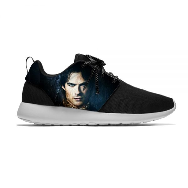 The Vampire Diaries Damon Salvatore Funny Fashion Sport Running Shoes Casual Breathable Lightweight 3D Print Men - Vampire Diaries Merch