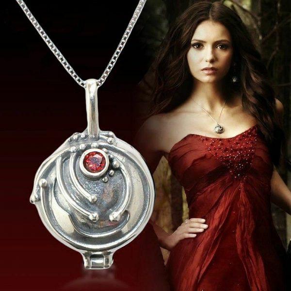 The Vampire Diaries Elena Vervain Necklace S925 Sterling Vampirina Pendant Women Girls Jewelry Necklace Birthday Gifts - Vampire Diaries Merch