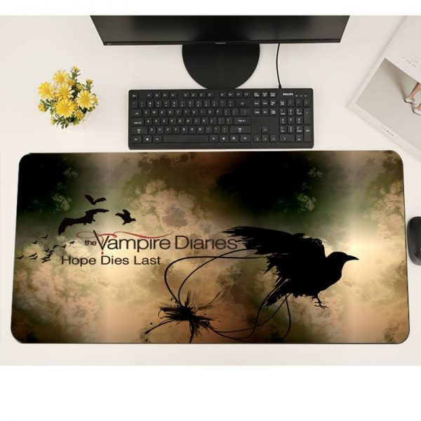 The Vampire Diaries Gaming mousepad XL Large Gamer Soft Keyboard PC Desk Mat Takuo Anti Slip 1 - Vampire Diaries Merch