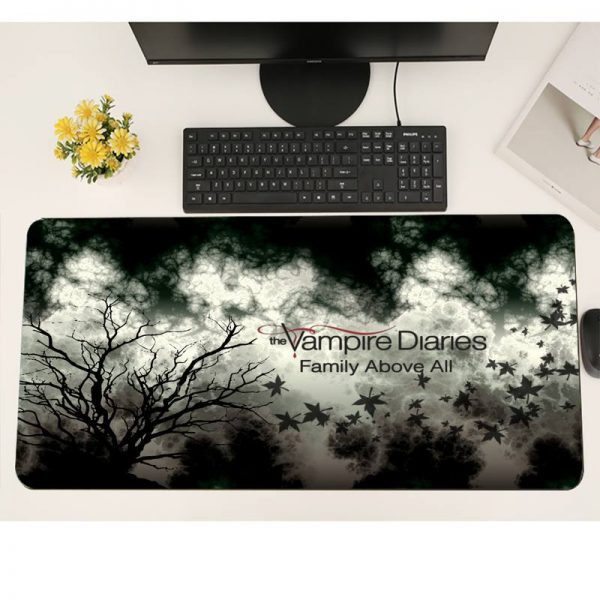 The Vampire Diaries Gaming mousepad XL Large Gamer Soft Keyboard PC Desk Mat Takuo Anti Slip 2 - Vampire Diaries Merch