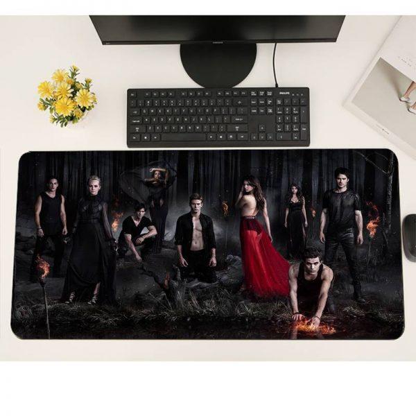 The Vampire Diaries Gaming mousepad XL Large Gamer Soft Keyboard PC Desk Mat Takuo Anti Slip 4 - Vampire Diaries Merch