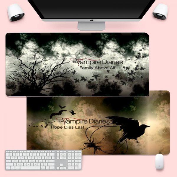 The Vampire Diaries Gaming mousepad XL Large Gamer Soft Keyboard PC Desk Mat Takuo Anti Slip - Vampire Diaries Merch