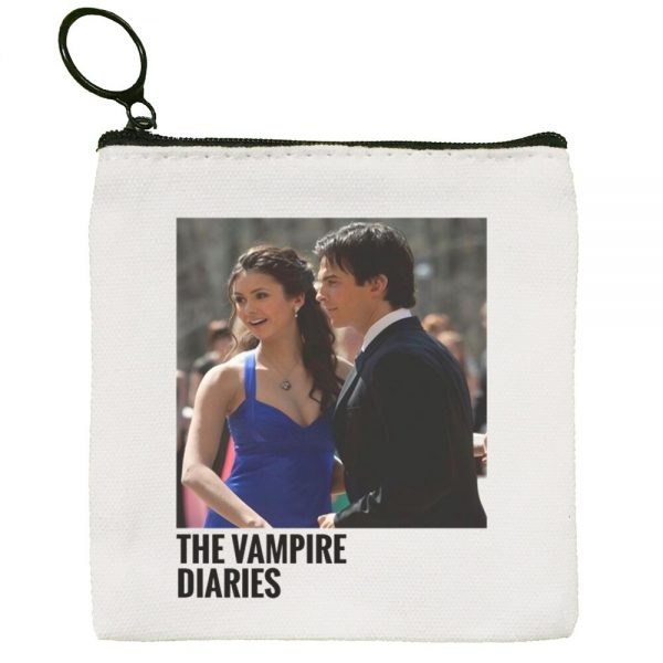 The Vampire Diaries Harajuku Graphic Canvas Coin Purse Coin Purse Collection Canvas Bag Small Wallet Zipper 1 - Vampire Diaries Merch