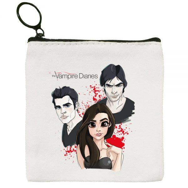 The Vampire Diaries Harajuku Graphic Canvas Coin Purse Coin Purse Collection Canvas Bag Small Wallet Zipper 3 - Vampire Diaries Merch