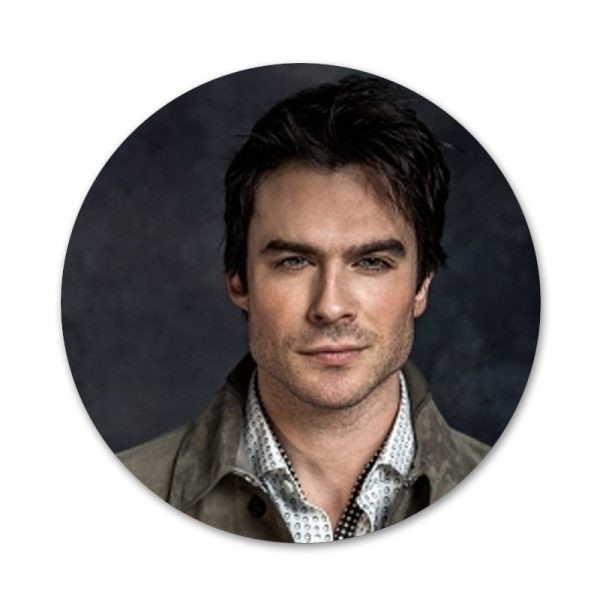 The Vampire Diaries Ian Somerhalder Badge Brooch Pin Accessories For Clothes Backpack Decoration gift 2 - Vampire Diaries Merch