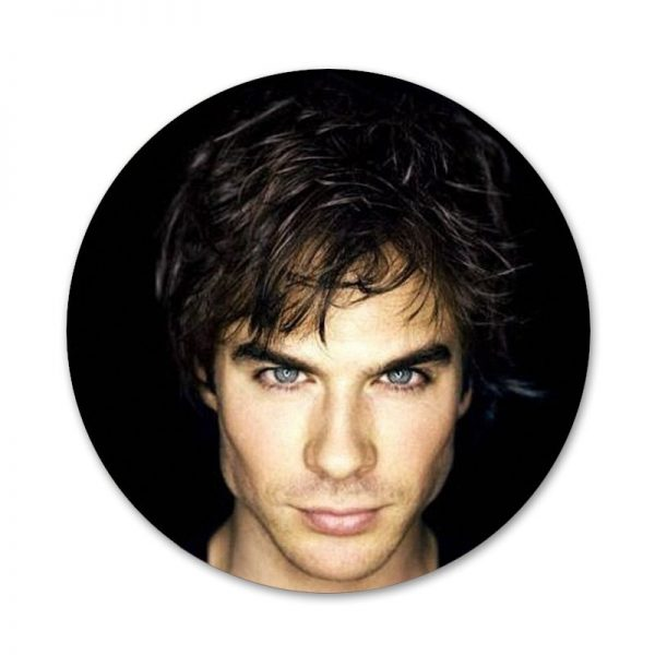 The Vampire Diaries Ian Somerhalder Badge Brooch Pin Accessories For Clothes Backpack Decoration gift 3 - Vampire Diaries Merch