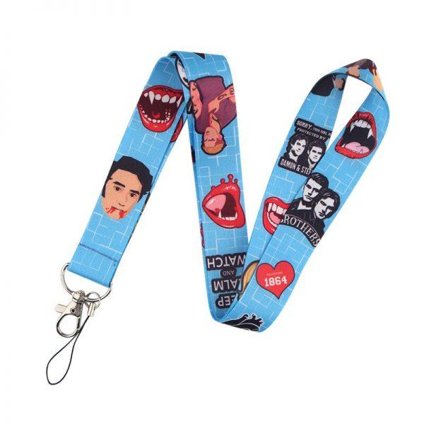 The Vampire Diaries Keychain Lanyard Neck Strap for Key ID Card Straps Badge Holder DIY Hanging 1 - Vampire Diaries Merch