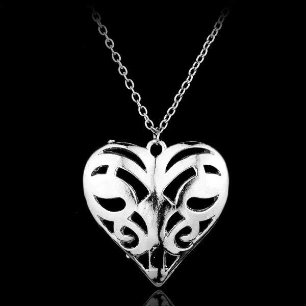 The Vampire Diaries Necklace Caroline Forbes Hollow Heart Pendant Necklace Fashion Jewelry Women Valentine s Day 1 - Vampire Diaries Merch