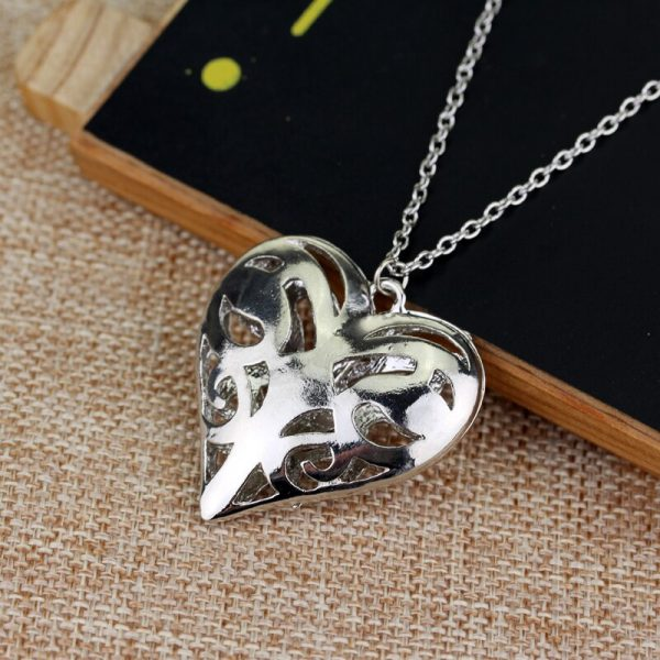 The Vampire Diaries Necklace Caroline Forbes Hollow Heart Pendant Necklace Fashion Jewelry Women Valentine s Day 2 - Vampire Diaries Merch
