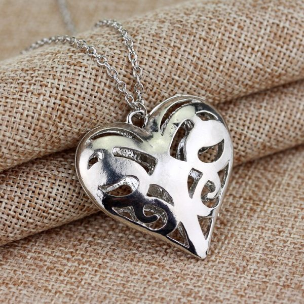 The Vampire Diaries Necklace Caroline Forbes Hollow Heart Pendant Necklace Fashion Jewelry Women Valentine s Day 3 - Vampire Diaries Merch