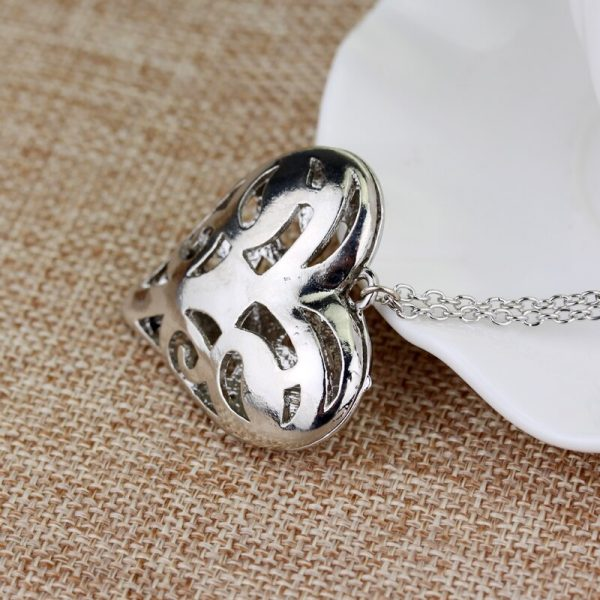 The Vampire Diaries Necklace Caroline Forbes Hollow Heart Pendant Necklace Fashion Jewelry Women Valentine s Day 4 - Vampire Diaries Merch