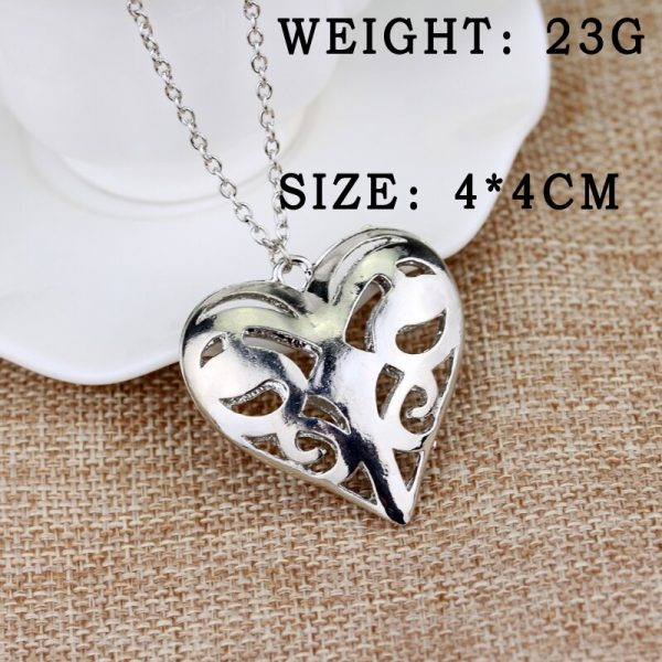 The Vampire Diaries Necklace Caroline Forbes Hollow Heart Pendant Necklace Fashion Jewelry Women Valentine s Day 5 - Vampire Diaries Merch