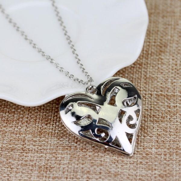 The Vampire Diaries Necklace Caroline Forbes Hollow Heart Pendant Necklace Fashion Jewelry Women Valentine s Day - Vampire Diaries Merch