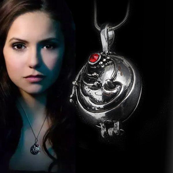 The Vampire Diaries Necklace Elena Gilbert Vintage Popular Fashion Pendant Beautiful Jewelry Gifts 1 - Vampire Diaries Merch