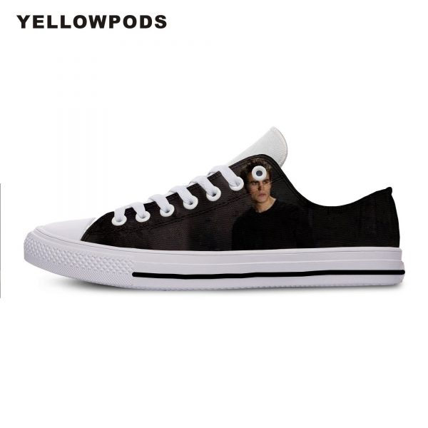 The Vampire Diaries Paul Wesley Mens Casual Shoes Hot Sale for Men Breathable Canvas Walking Man 1 - Vampire Diaries Merch