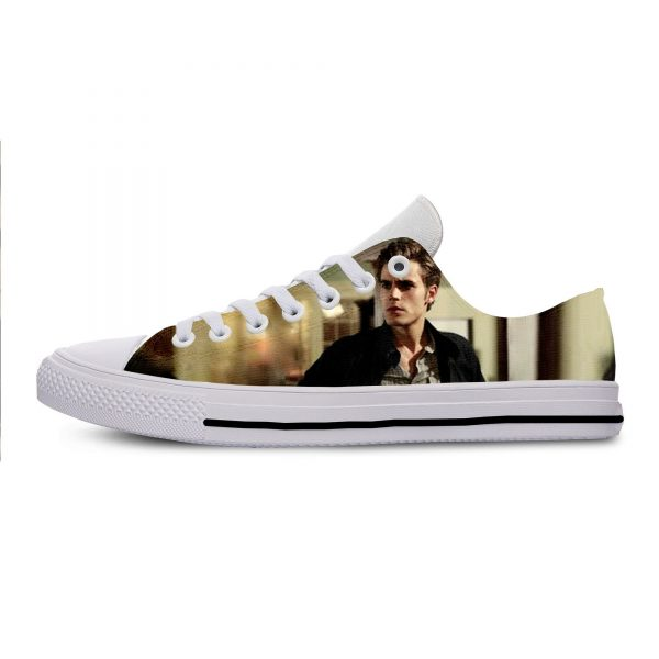The Vampire Diaries Paul Wesley Mens Casual Shoes Hot Sale for Men Breathable Canvas Walking Man 2 - Vampire Diaries Merch