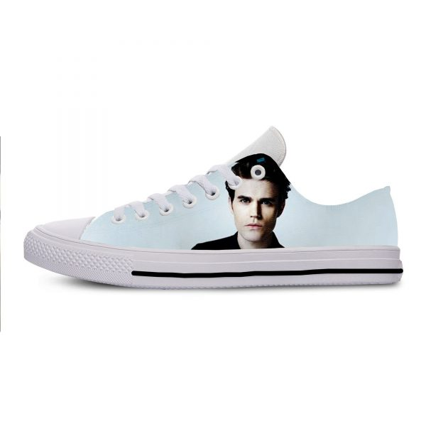 The Vampire Diaries Paul Wesley Mens Casual Shoes Hot Sale for Men Breathable Canvas Walking Man 3 - Vampire Diaries Merch