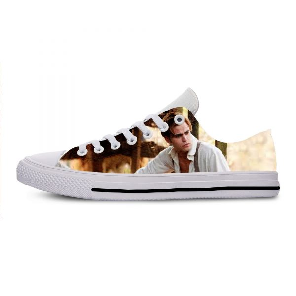 The Vampire Diaries Paul Wesley Mens Casual Shoes Hot Sale for Men Breathable Canvas Walking Man - Vampire Diaries Merch
