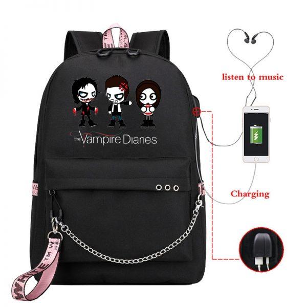 The Vampire Diaries Print Backpack for Women School Shoulder Bag Bagpack for Teenage Girls Female Travel 3 - Vampire Diaries Merch