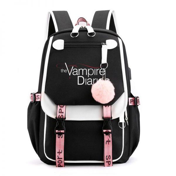 The Vampire Diaries School Bags Teenager Girls Laptop Backpacks Casual Backpacks Outdoor Backpack Women Travel Bag 2 - Vampire Diaries Merch