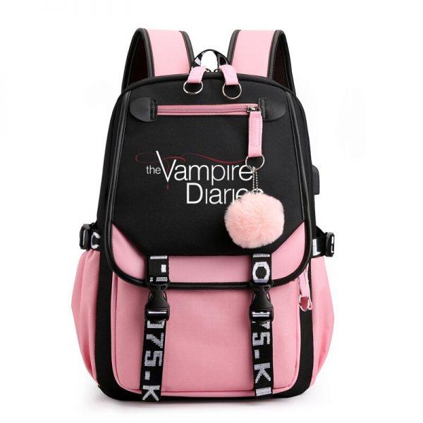 The Vampire Diaries School Bags Teenager Girls Laptop Backpacks Casual Backpacks Outdoor Backpack Women Travel Bag 3 - Vampire Diaries Merch