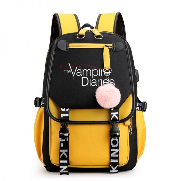 The Vampire Diaries School Bags Teenager Girls Laptop Backpacks Casual Backpacks Outdoor Backpack Women Travel Bag 4 - Vampire Diaries Merch