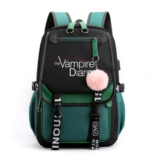 The Vampire Diaries School Bags Teenager Girls Laptop Backpacks Casual Backpacks Outdoor Backpack Women Travel Bag 5 - Vampire Diaries Merch