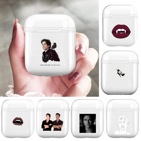 The Vampire Diaries Soft Silicone Cases For Airpods 1 2 Protective Bluetooth Wireless Earphone Cover For - Vampire Diaries Merch