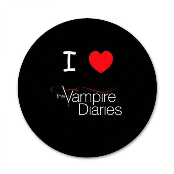 The Vampire Diaries Stefan Damon Salvatore Icons Pins Badge Decoration Brooches Metal Badges For Backpack Decoration 3 - Vampire Diaries Merch