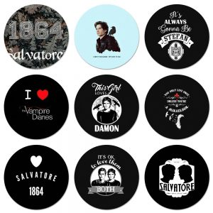 The Vampire Diaries Stefan Damon Salvatore Icons Pins Badge Decoration Brooches Metal Badges For Backpack Decoration - Vampire Diaries Merch