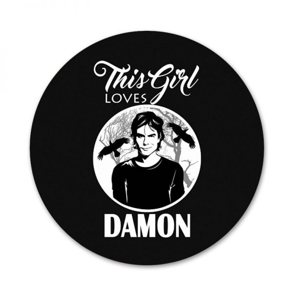The Vampire Diaries Stefan Damon Salvatore Icons Pins Badge Decoration Brooches Metal Badges For Backpack Decoration 5 - Vampire Diaries Merch