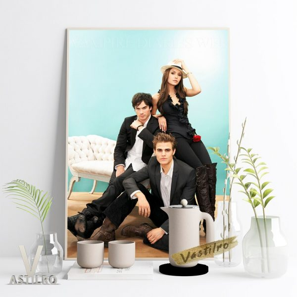 The Vampire Diaries Stefan Salvatore Character Poster Paul Wesley Movie Actor Star Portrait Wall Picture Fans 1 - Vampire Diaries Merch