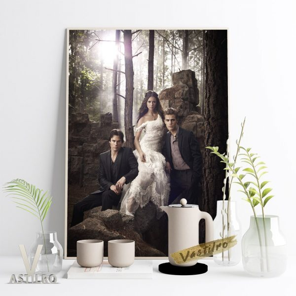The Vampire Diaries Stefan Salvatore Character Poster Paul Wesley Movie Actor Star Portrait Wall Picture Fans 5 - Vampire Diaries Merch