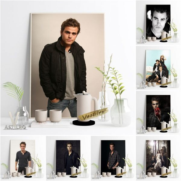 The Vampire Diaries Stefan Salvatore Character Poster Paul Wesley Movie Actor Star Portrait Wall Picture Fans - Vampire Diaries Merch