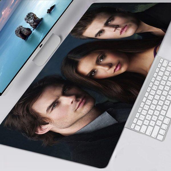 The Vampire Diaries TV Mousepad 40x90 Alfombrilla Gaming Accessories Non slip Mouse Pad Mausepad Large Podkladka 1 - Vampire Diaries Merch