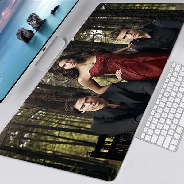 The Vampire Diaries TV Mousepad 40x90 Alfombrilla Gaming Accessories Non slip Mouse Pad Mausepad Large Podkladka 3 - Vampire Diaries Merch