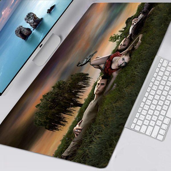 The Vampire Diaries TV Mousepad 40x90 Alfombrilla Gaming Accessories Non slip Mouse Pad Mausepad Large Podkladka 4 - Vampire Diaries Merch
