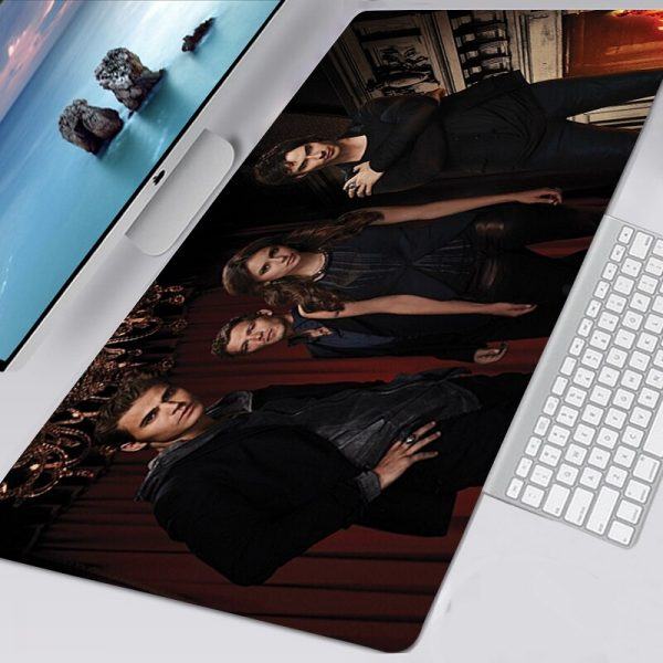 The Vampire Diaries TV Mousepad 40x90 Alfombrilla Gaming Accessories Non slip Mouse Pad Mausepad Large Podkladka - Vampire Diaries Merch