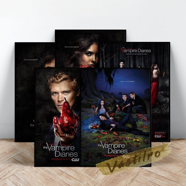 The Vampire Diaries Tv Play Poster Teleplay Character Prints Art Elena Gilbert Role Wall Stickers Movie 1 - Vampire Diaries Merch