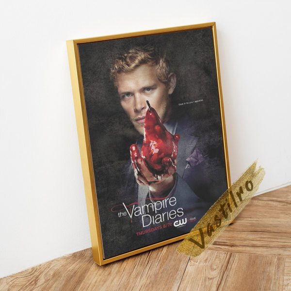 The Vampire Diaries Tv Play Poster Teleplay Character Prints Art Elena Gilbert Role Wall Stickers Movie 2 - Vampire Diaries Merch