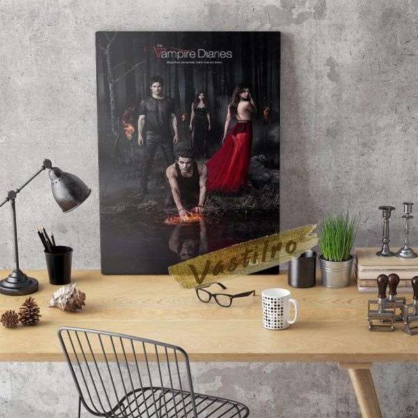 The Vampire Diaries Tv Play Poster Teleplay Character Prints Art Elena Gilbert Role Wall Stickers Movie 3 - Vampire Diaries Merch