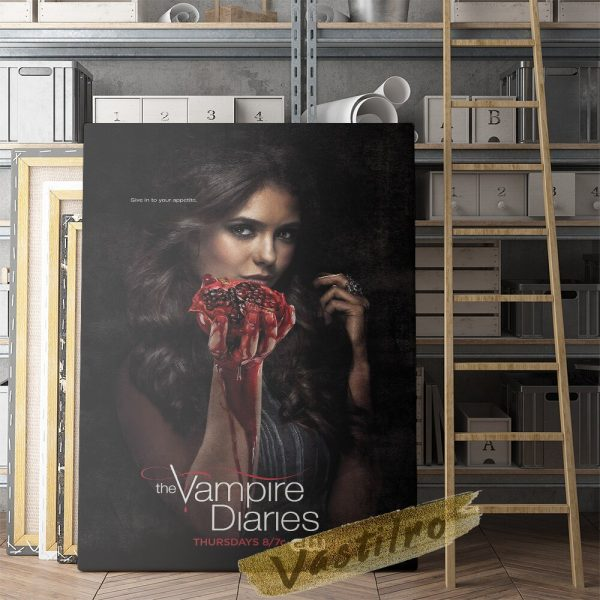 The Vampire Diaries Tv Play Poster Teleplay Character Prints Art Elena Gilbert Role Wall Stickers Movie 4 - Vampire Diaries Merch