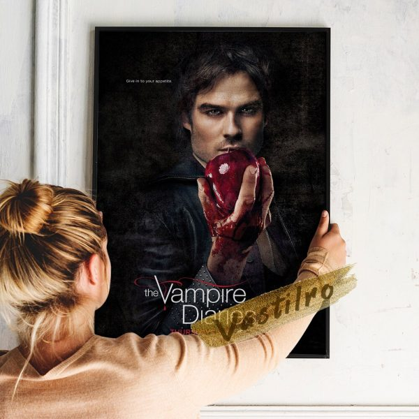 The Vampire Diaries Tv Play Poster Teleplay Character Prints Art Elena Gilbert Role Wall Stickers Movie 5 - Vampire Diaries Merch