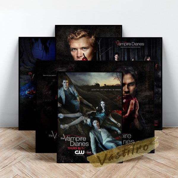 The Vampire Diaries Tv Play Poster Teleplay Character Prints Art Elena Gilbert Role Wall Stickers Movie - Vampire Diaries Merch