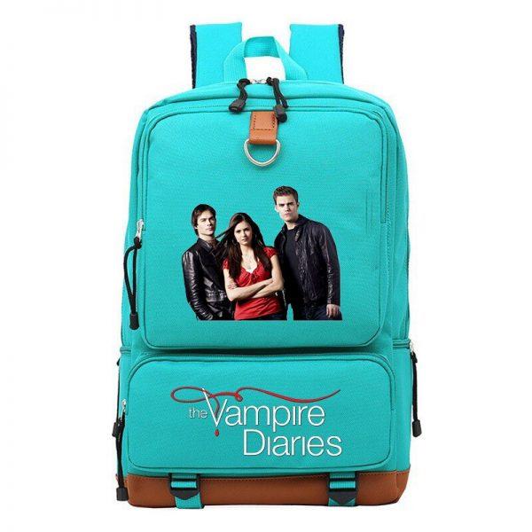 Vampire Diaries Backpack Boys Girls Students School Bag Daily Travel Backpacks Large Capacity Laptop Bookbag Mochila - Vampire Diaries Merch