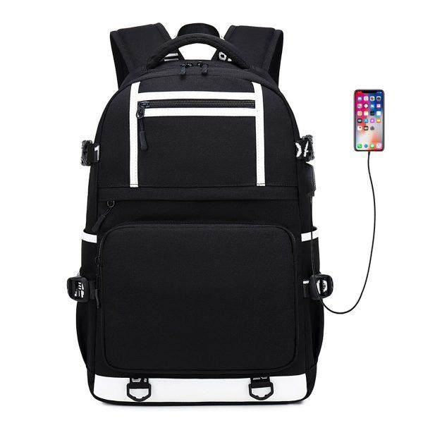 Vampire Diaries Backpack Women Men Multifunction Waterproof USB Charging Laptop Backpacks School Travel Bags for Boys 5 - Vampire Diaries Merch