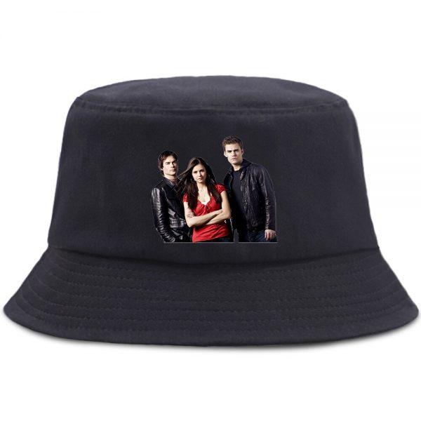 Vampire Diaries Bucket Hats Summer Women Men Casual Foldable Fisherman Hat Harajuku Hip Hop Beach Panama - Vampire Diaries Merch