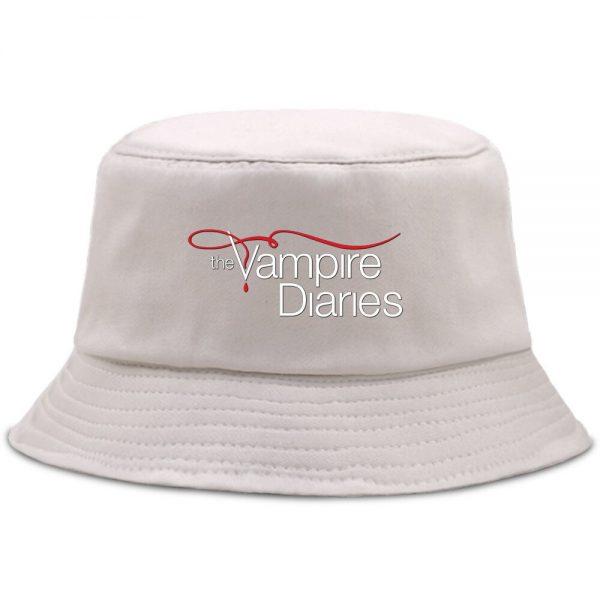 Vampire Diaries Panama Bucket Hat Women Men Hip Hop Cap Summer Fishing Hats Sun Flat Top 1 - Vampire Diaries Merch